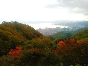 比叡山ドライブウェイからの大津